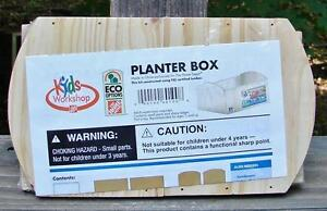 The Home Depot Kids Workshop Wood Planter Box Kit Nip Ebay