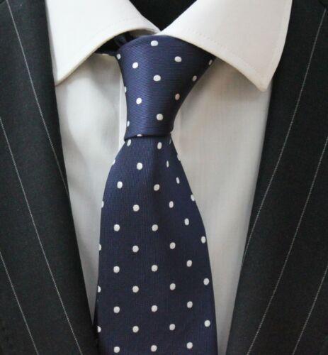 Corbata Corbata con Pañuelo Azul Con Plata Mancha Blanca LUC169