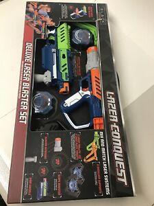 Lazer-Conquest-Deluxe-Laser-Blaster-Set-Black-Series