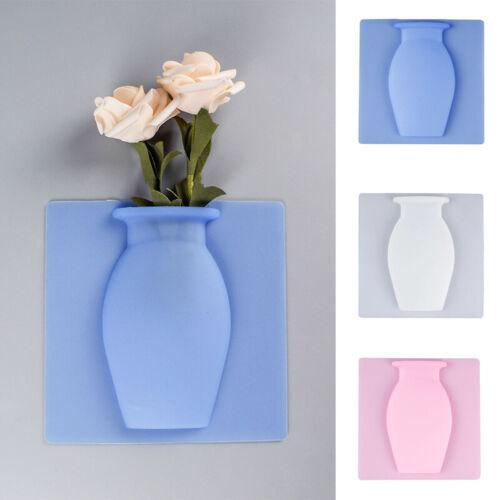 1PC завод ваза съемная силиконовая ваза стена оконная наклейка цветочный горшок бесследная