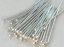 """26GA Sterling Silver 1/"""" Head Pins 100 pcs Jewelry Components"""