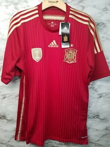 Adidas Spain Home Soccer Jersey Mens Sz M New With Tags Fifa World Cup 2014 RARE