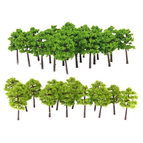 80Pcs 5cm Height Green Tree Models for RR Railway Park Garden Scene Building