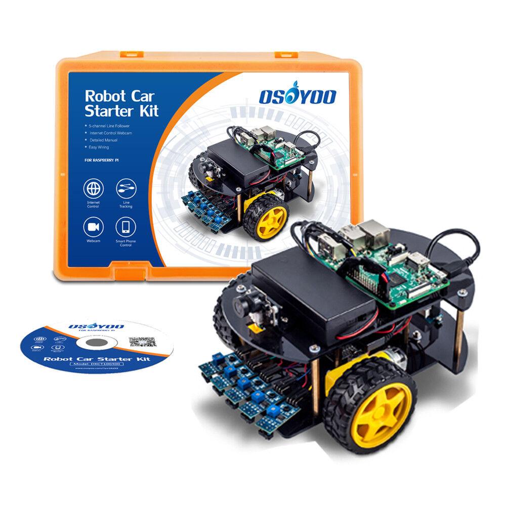 Robot Car Smart Car Kit Learning Kit for Raspberry Pi Model 3B, 2B, B+