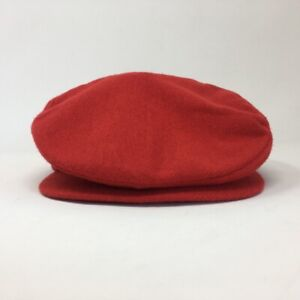 5ab8954d3 Details about Vintage Nike Flat Cap Hat Golf Newsboy Cabbie Cap Made in USA  Red Size M