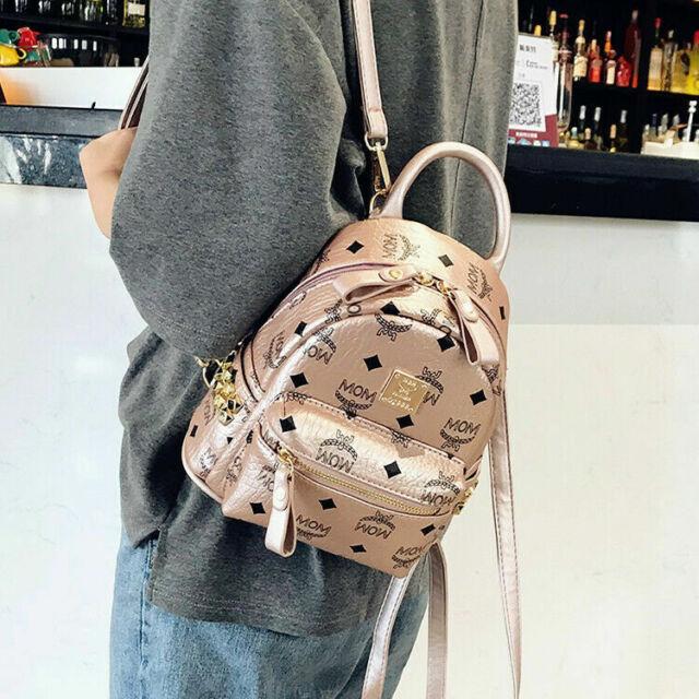 DAMEN Stadt-City-RUCKSACK Schulter-Tasche Backpack Leder Optik Reise Urlaub bag