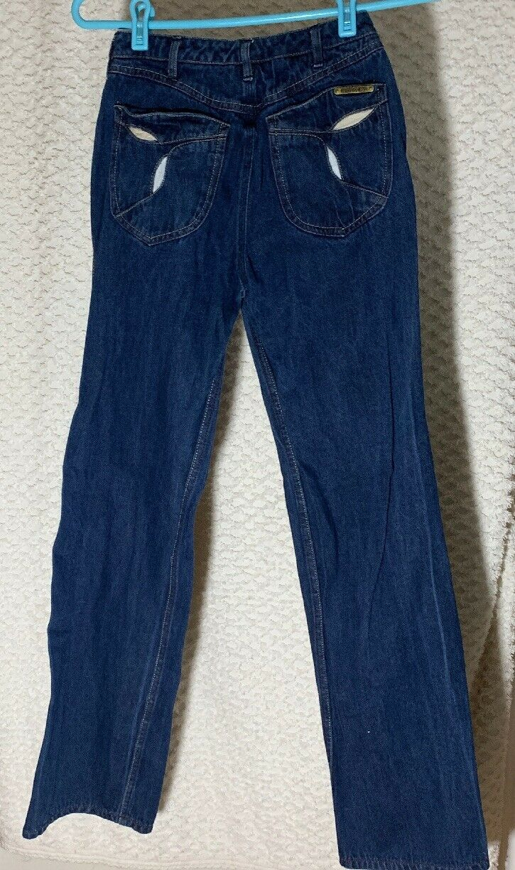 """Vintage N Est Ce Pas indigo denim jeans 24"""" waist… - image 1"""