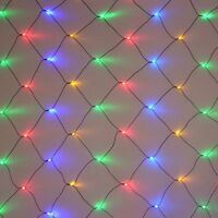 5.5ft X 3.5ft 100 Led Multicolor Multi-function Net Light With Green Wire