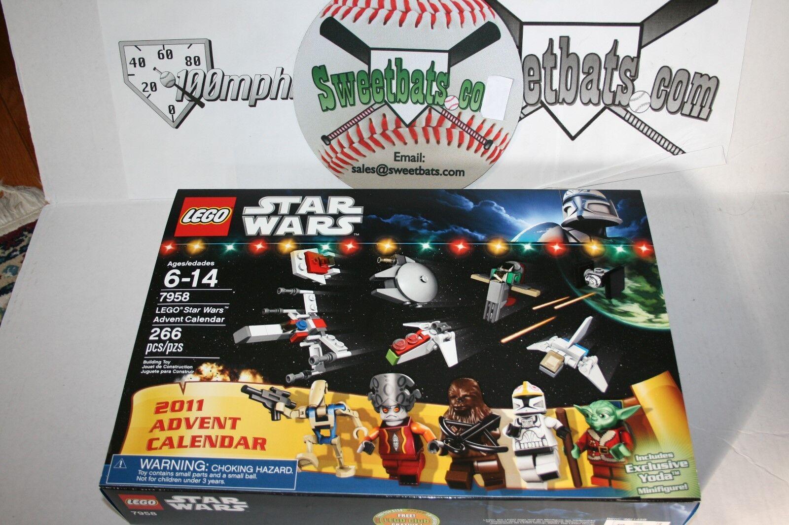 Lego estrella guerras  7958 2011 Advent Calendar NIB nuovo In scatola Retirosso Sold Out YODA  alta quaità
