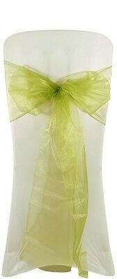 NEW WEDDING ORGANZA CHAIR COVER BOW SASH FOR SALE UK - FREE POSTAGE