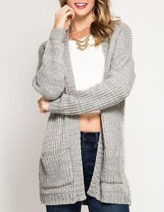 Shesky Open Front Chunky Knit Long Sleeve Sweater Cardigan Ebay