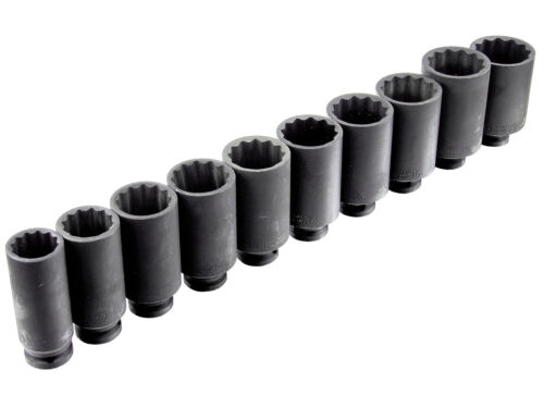 Steck Nuss Set Schlagschrauber Außen Vielzahn 24 - 39 mm Schrauben Schlüssel Nuß