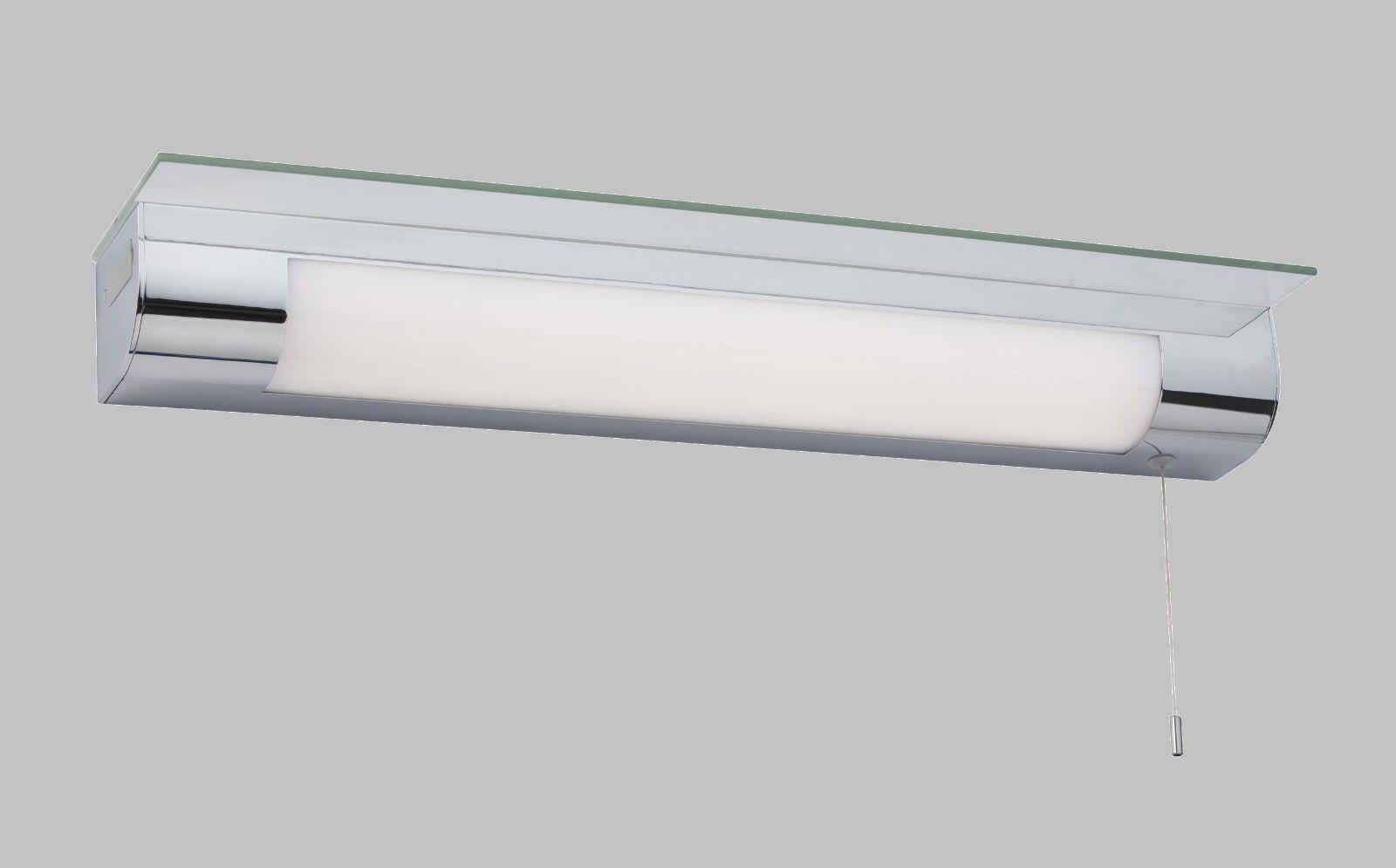LED Luz de máquina de Cromo con puertos de carga USB y Estante-Producto Totalmente Nuevo