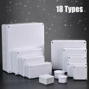 Waterproof Electric Project Case Junction Box ABS & PVC Enclosure Case White new