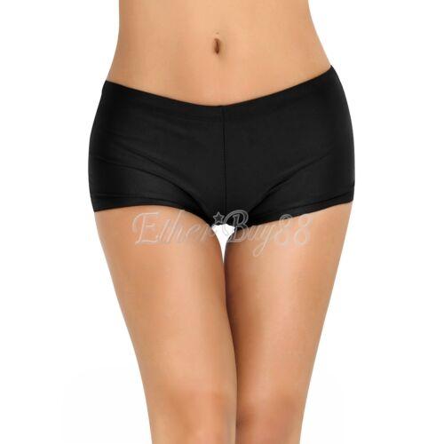 Women Solid Boyleg Bikini Swim Bottom Boardshort Boy Short Leg Tights Swimwear