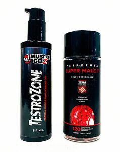 2 PAK Muscle Gelz TESTROZONE Testosterone Gel + Performix SUPER MALE T 120 caps eBay
