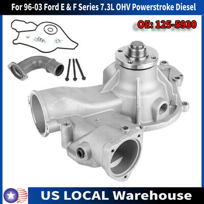 OAW F5930 Engine Water Pump for Ford Excursion Pickup F250 F350 F450 F550 E350 F59 VAN E 7.3L Powerstroke Diesel 1996-2003