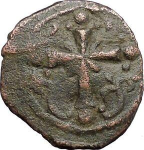 JESUS-CHRIST-Class-I-Anonymous-Ancient-1078AD-Byzantine-Follis-Coin-CROSS-i48192
