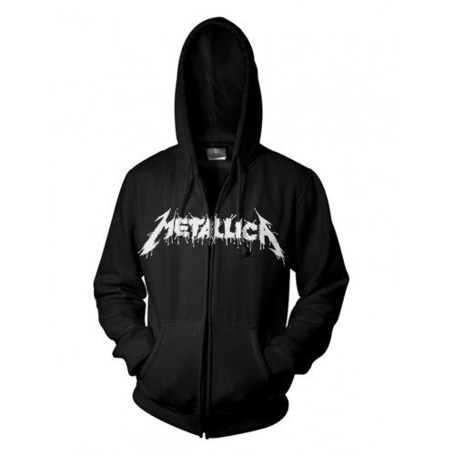 NEW hooded sweatshirt hoody Metallica /'One/' Zip Hoodie