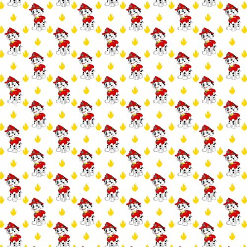 "GORGEOUS /""PAW PATROL/"" PRINTED  FABRIC SHEET..HAIR BOWS GLITTER"
