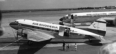 6 x 4 INCHES AIR RHODESIA DOUGLAS DC3 DAKOTA PRINT