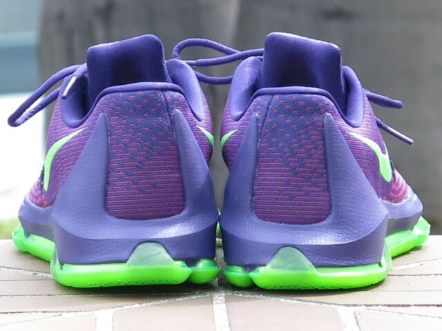 f4502b1bbdae Mens Nike KD 8 Shoe Size 10 Kevin Durant Basketball 749375 Purple Green for  sale online