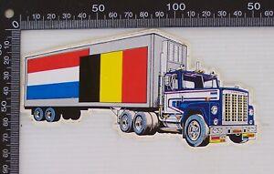 VINTAGE-LONG-HAUL-TRUCKER-NETHERLANDS-BELGIUM-TRIP-TRUCK-SOUVENIR-DRIVER-STICKER