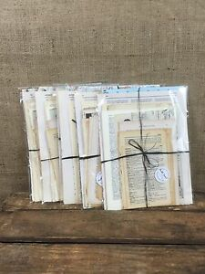 40 Antique and Vintage Book Pages for Crafts Decoupage Dictionary illustrations