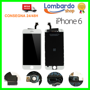 DISPLAY SCHERMO PER APPLE IPHONE 6 BIANCO TOUCH SCREEN LCD ORIGINALE TIANMA
