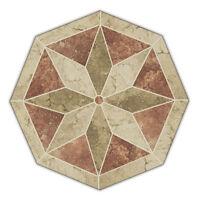 40 Handcrafted Porcelain Tile Starburst Mosaic Medallion Deco - Cinnamon Mocha