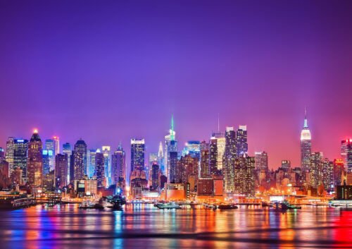 COLORFUL NEW YORK CITY NEW A1 CANVAS GICLEE ART PRINT POSTER