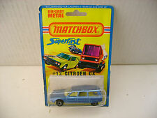 1976 MATCHBOX LESNEY SUPERFAST #12 BLUE CITROEN CX WAGON MOC
