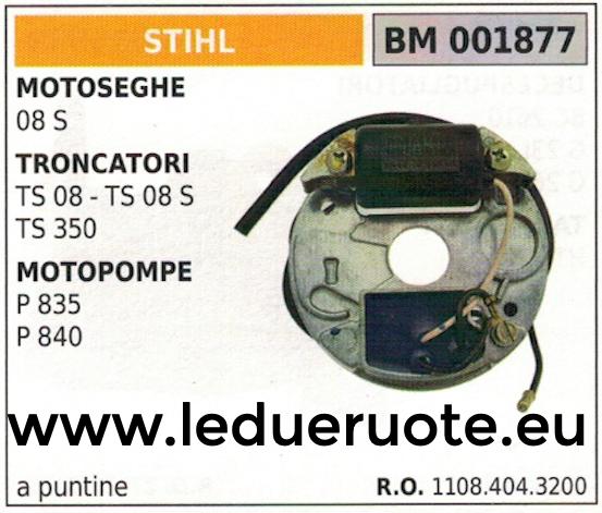 11084043200 BOBINA ACCENSIONE A PUNTINE centralina MOTOSEGA STIHL 08 S