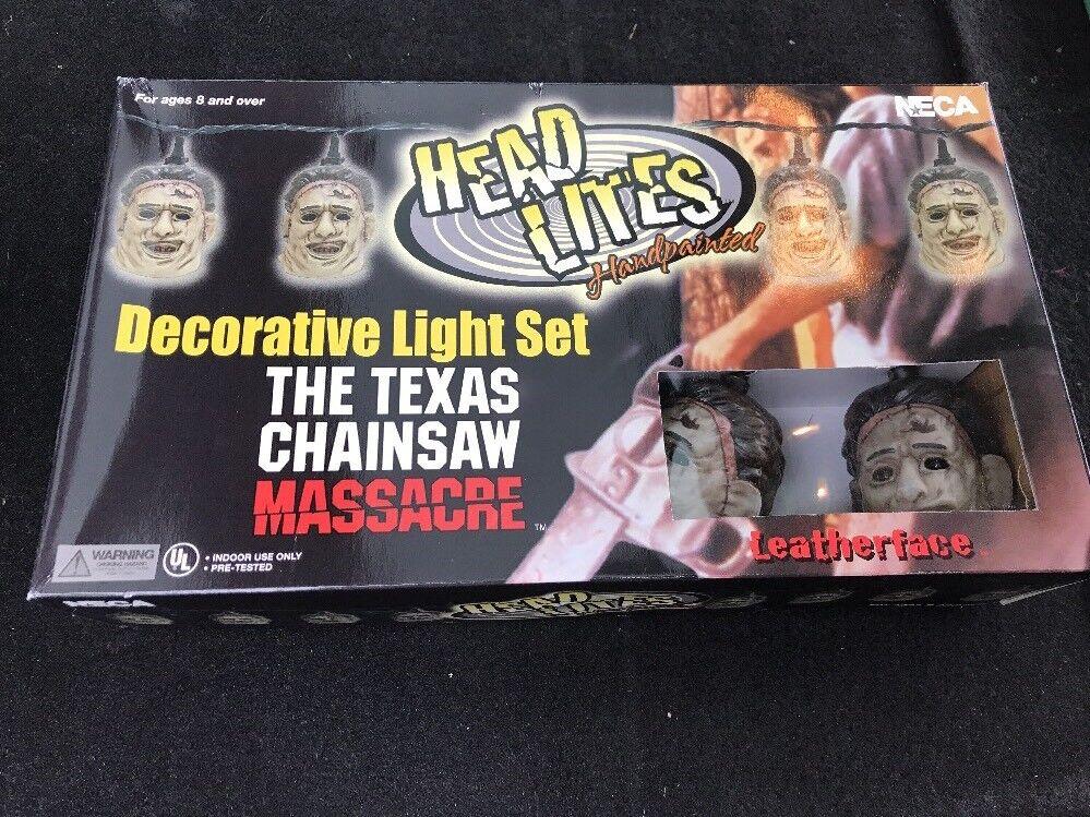 Neca der texas chainsaw massacre leder gesicht kopf lite dekoratives licht ausrichtung