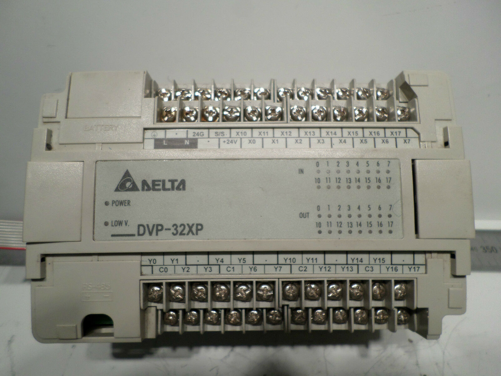 DELTA PLC EXPANSION - DVP-32XP -- 16 Inputs 16 Outputs - 100-240 Supply - Tested