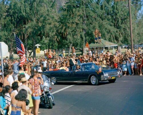 President John F Kennedy open-car motorcade in Honolulu Hawaii New 8x10 Photo