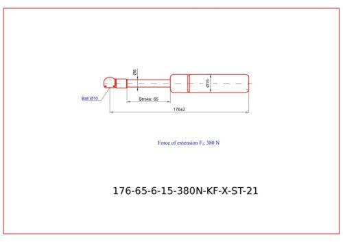 1x Gasfeder//Gasdruckfeder für BMW E30 Cabrio Verdeck//gas spring for hood top