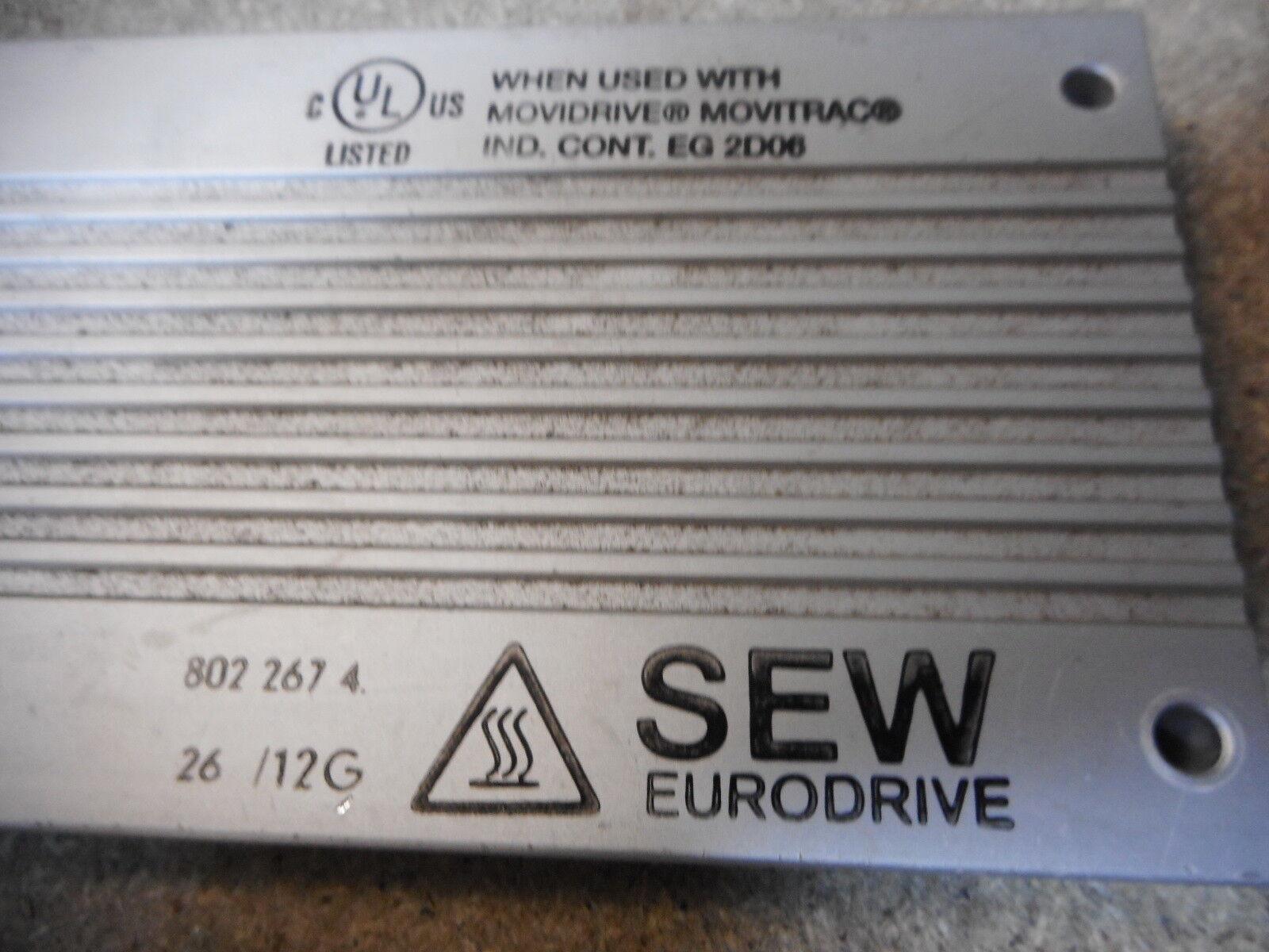 BRAKE RESISTOR BW 200-005 SEW EURO-DRIVE 826 270.5 200ohm 500watt