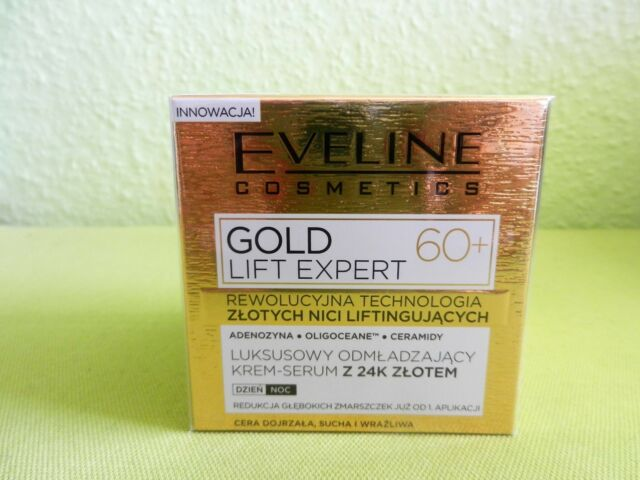 (17,38€/100ml) EVELINE Gold Lift Expert 60+ Creme-Serum 50 ml