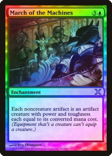 March of the Machines FOIL 10th Edition NM-M Blue Rare MAGIC MTG CARD ABUGames