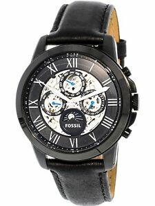Fossil Men's Grant ME3028 Black Leather Japanese Automatic Fashion Watch