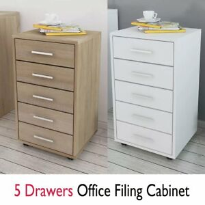 Surprising Details About Wooden Home Office Filing Cabinet 5 Drawers Under Desk Storage Unit With Wheels Download Free Architecture Designs Embacsunscenecom