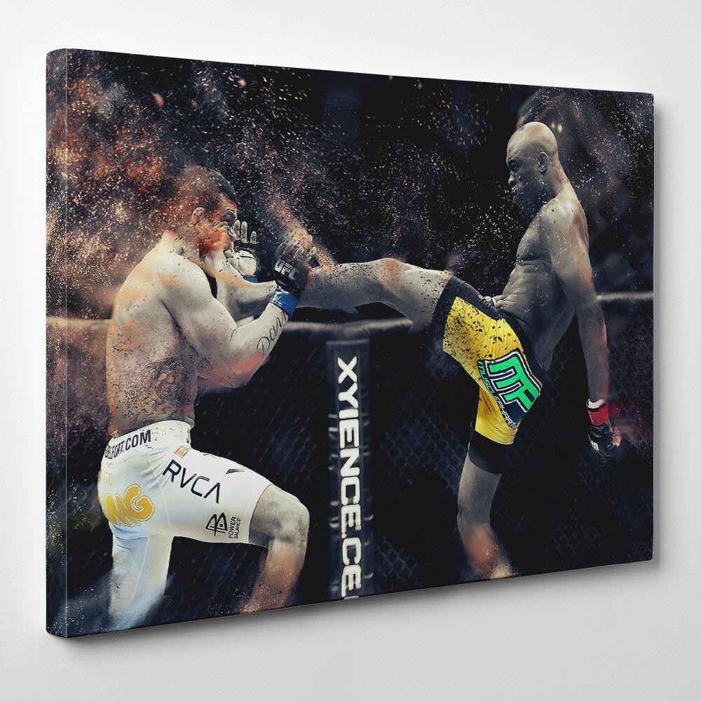 Anderson Silva UFC - encadré Toile Art Print - UFC Silva Martiaux Artiste Brésilien 57bf24