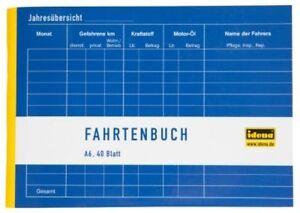 Idena-Fahrtenbuch-A6-quer-40-Blatt-Steuern-Finanzamt-390-Fahrten