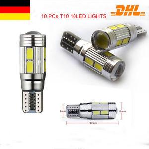 10 X T10 5630 SMD 10 LED Auto Birnen Fehlerfreie Canbus Weiß 501 Seite Licht DE