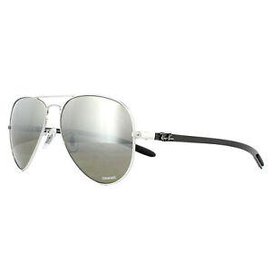 d9c44ad4d14 Ray-Ban Sunglasses RB8317CH 003 5J Silver Silver Mirror Polarized ...