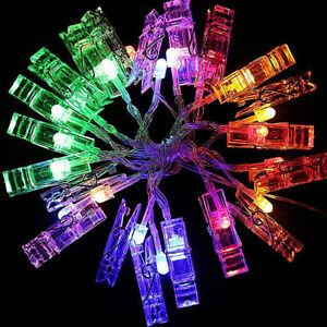 10-20-LED-Card-Photo-Clip-String-Lights-Battery-Christmas-Party-Wedding-lights