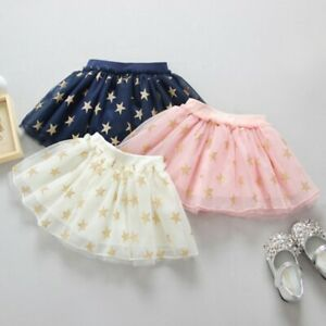 Baby-Toddler-Girls-Star-Tutu-Skirt-Sequins-Dancewear-Princess-Party-Ballet-Dress