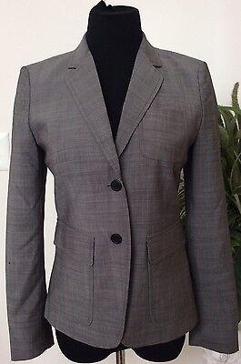 Crew Women's Career Gray 100% Wool Multi-occasion Blazer Suit Size 4 Euc Apprehensive J Women's Clothing