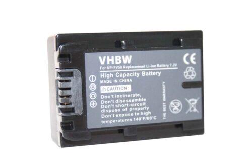 Batería de repuesto para Sony handycam hdr-cx280e np-fv50